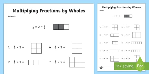 Multiplying Fractions by Whole Numbers with Visual Support