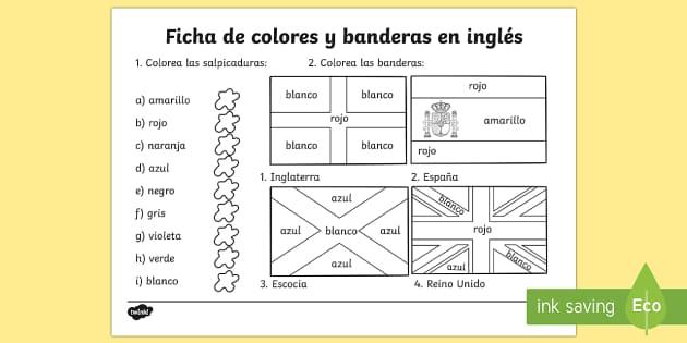 spanish colouring flags worksheet  worksheets flag colour