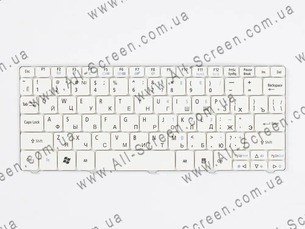 Оригинальная клавиатура ACER Aspire One D255, D260, white