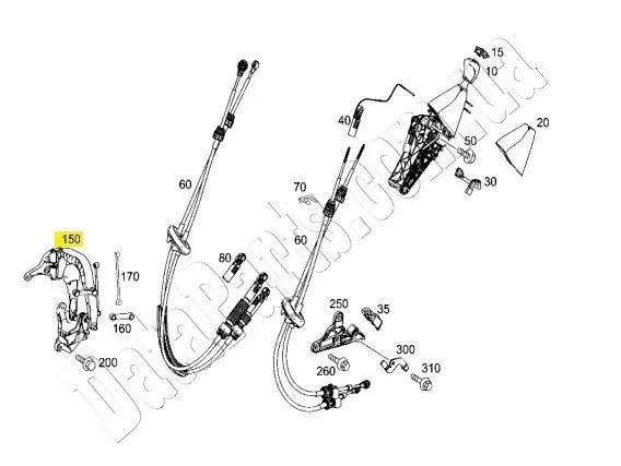 Механизм переключения передач (балансир) Mercedes-Benz