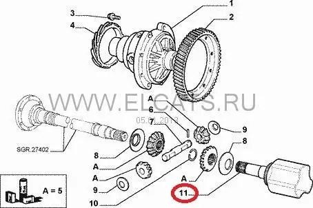 Стакан левой полуоси Fiat Doblo 1.3-1.9 JTD: продажа, цена