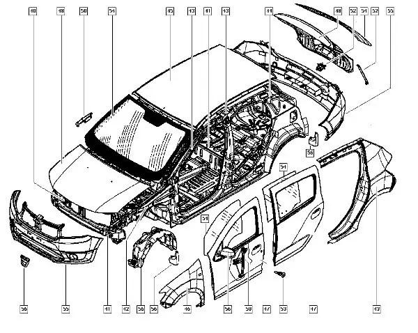 Кузовные детали и оптика Renault Logan II, MCV, Renault