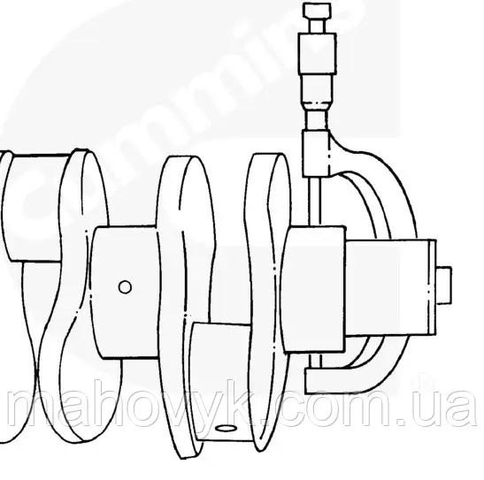 Размеры коленчатого вала двигателей Cummins B3.9, B4.5 RGT