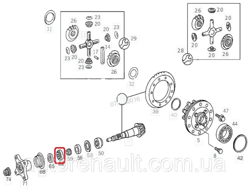 Подшипник хвостовика (30X68X22) на Мерседес Спринтер 208