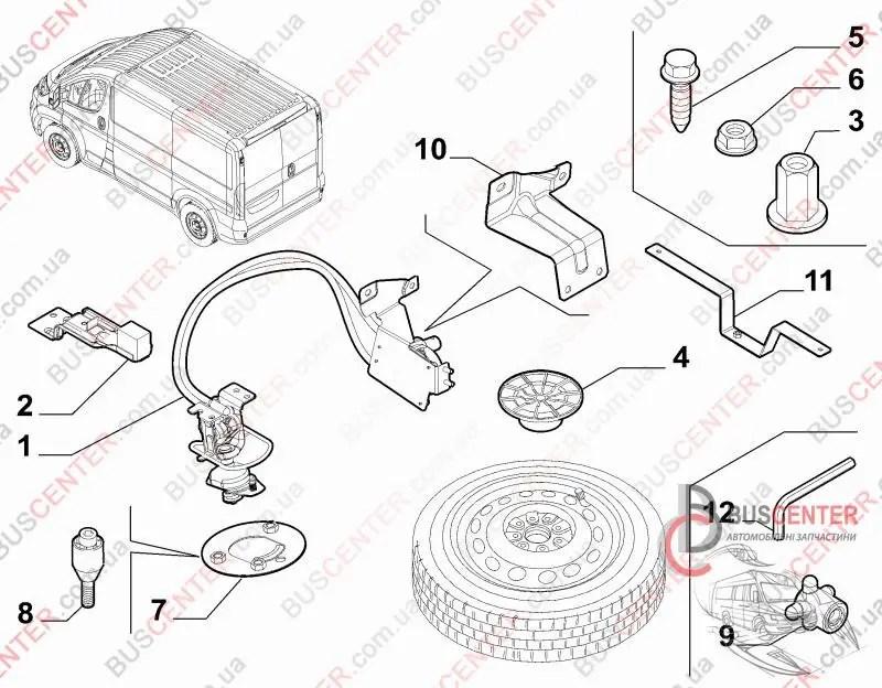 Механизм крепление запасного колеса Fiat Ducato 250 (2006