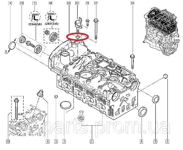 Кольцо уплотнительное под датчик фазореулятора Renault