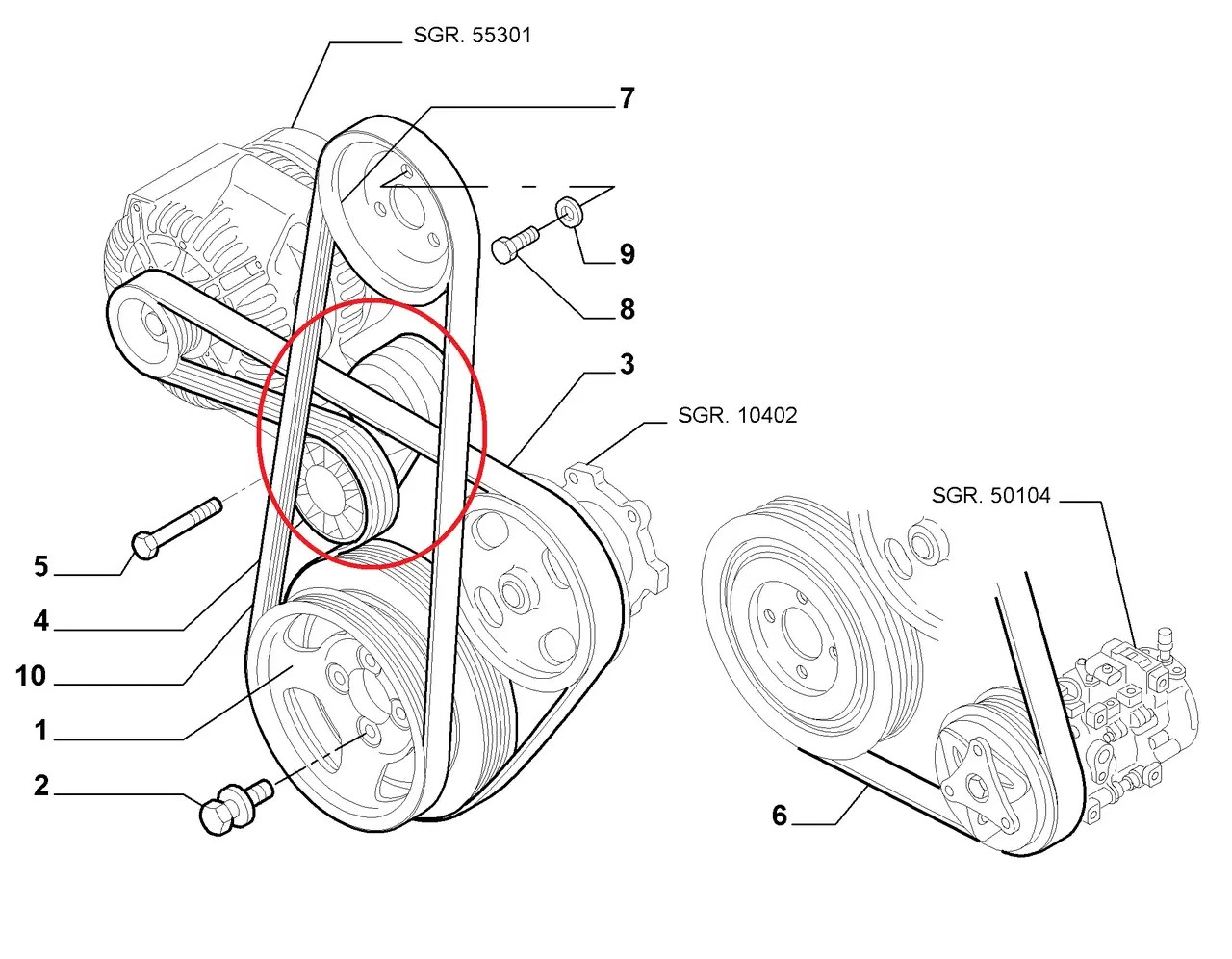 Ролік ремня генератора Fiat Doblo 1.3MJTD 2004-2011 (Dayco