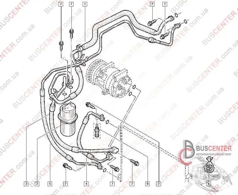 Трубка кондиционера Renault Trafic (2000-2014) 8200497083