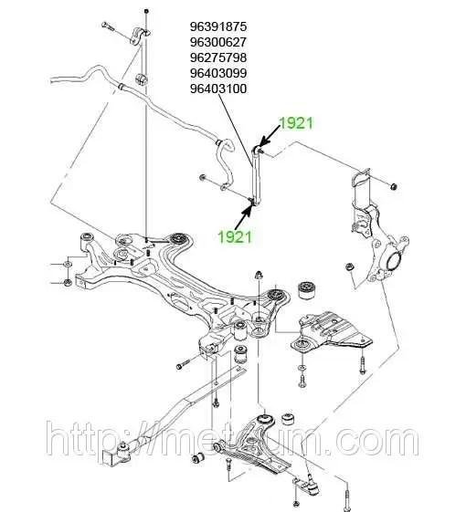 19-21 Пыльник тяги переднего стабилизатора Daewoo Nubira