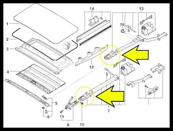 Направляющая люка BMW E36, E39, E46, E53 купить, цена в