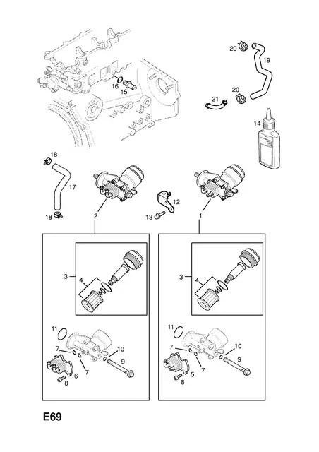 Уплотнительное кольцо маслоохладителя GM 97223186 Y17DT