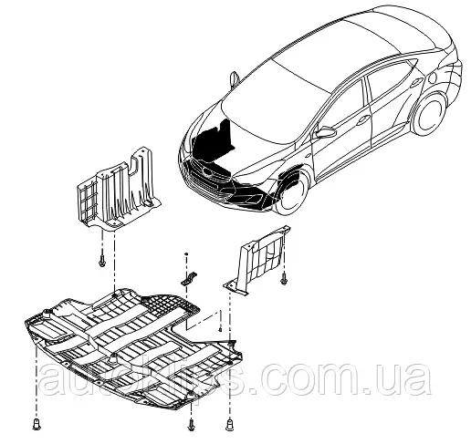 Саморез крепления защити двигателя Audi A4, A6 / Seat Exeo