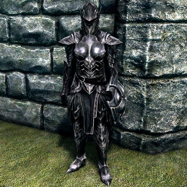 Image result for skyrim ebony armor female
