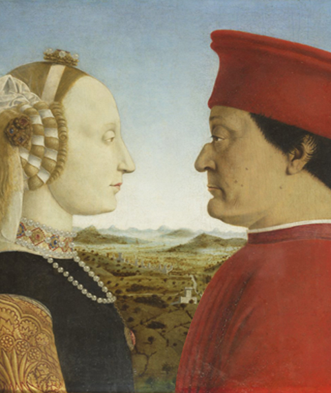 I duchi di Urbino Federico da Montefeltro e Battista