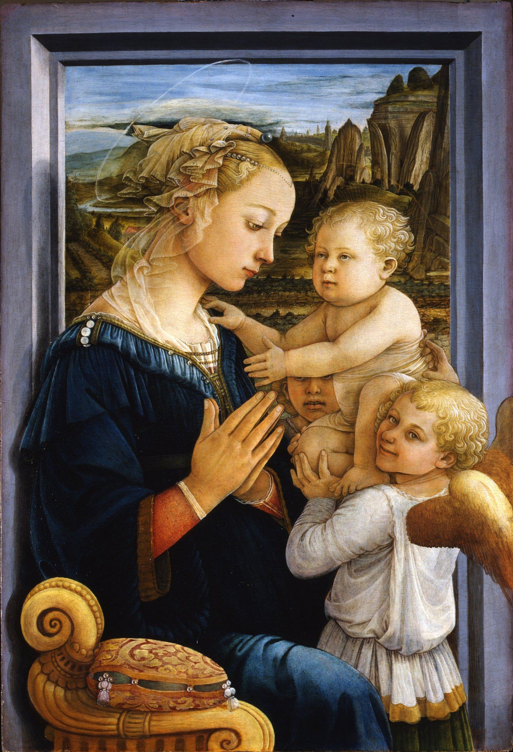 Madonna Bambino Due Angeli Opere Le Gallerie