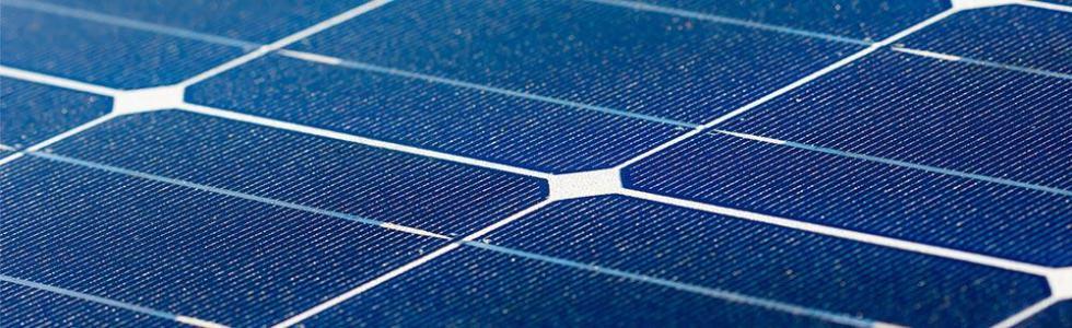 Monocrystalline solar panels have a dark, uniform look.