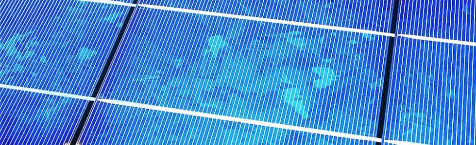 Polycrystalline solar panels are blended from multiple pieces of silicon.
