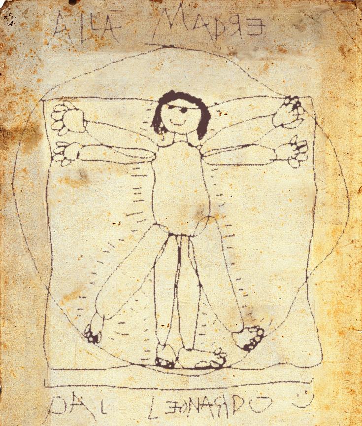Pergaminho do Mar Morto datado de 5000 A.C. encontrado em uma caverna da Cornualia, representando um antropólogo, posteriormente plagiado por Leonardo da Vinci no seculo XV. fonte: http://desciclo.pedia.ws/wiki/Antropologia