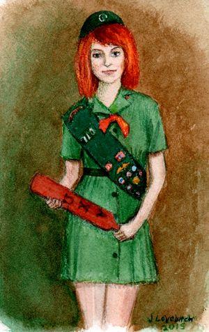Girl scout  Spanking Art