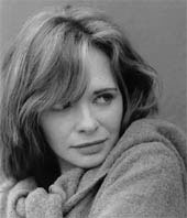 Black and white portrait of actress Adrienne Shelly