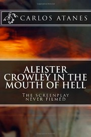Abstract book cover for Aleister Crowley in the Mouth of Hell