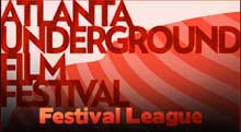 Red logo for the Atlanta Underground Film Journal