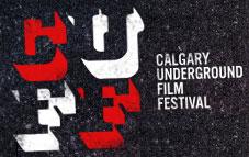 Logo for the Calgary Underground Film Festival