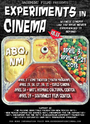 TV dinner tray poster for Experiments in Cinema