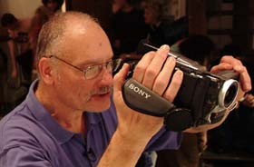 George Kuchar making a movie