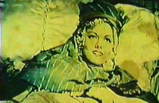 Persian woman lying down in old movie