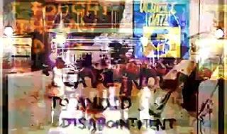 Superimposed image of consumer culture artifacts