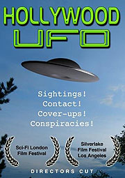 UFO flying through the sky