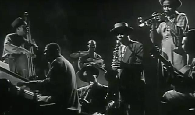 Jazz musicians jamming