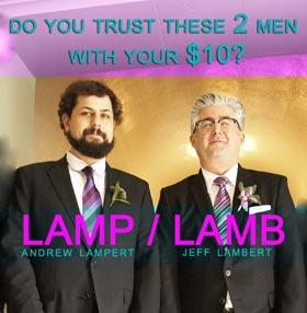 Andrew Lampert and Jeff Lambert wearing suits