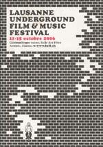 Film festival program cover featuring illustration of brick wall