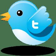 The Twitter bird flying