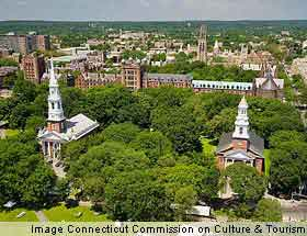 Panoramic view of New Haven, Connecticut