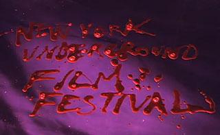 New York Underground film Festival written in blood