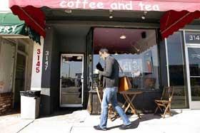 Nicholas McCarthy walks into coffee shop