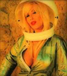 Sexy female astronaut
