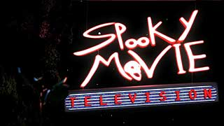 Neon logo for Spooky Movie Television