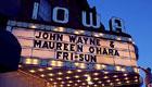 Marquee of the Iowa Theatre in Winterset, Iowa