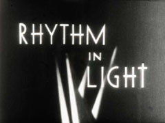 Title credits film still from Rhythm in Light