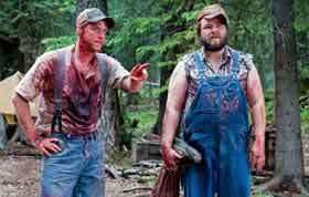 Two hillbillies covered in blood