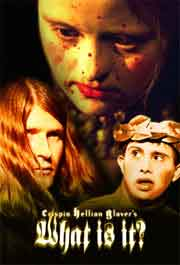Movie poster with Crispin Glover and two Down Syndrome actors