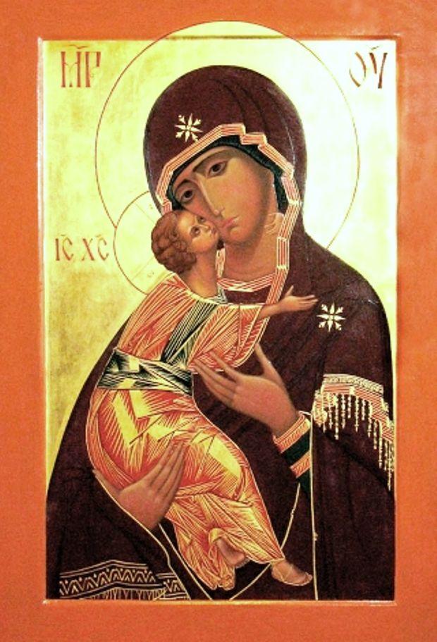 """3 червня Православні християни моляться перед образом Пресвятої Богородиці """"Володимирської"""""""