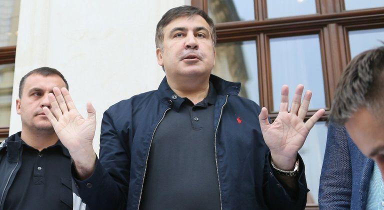 Саакашвили выступил перед журналистами / фото УНИАН