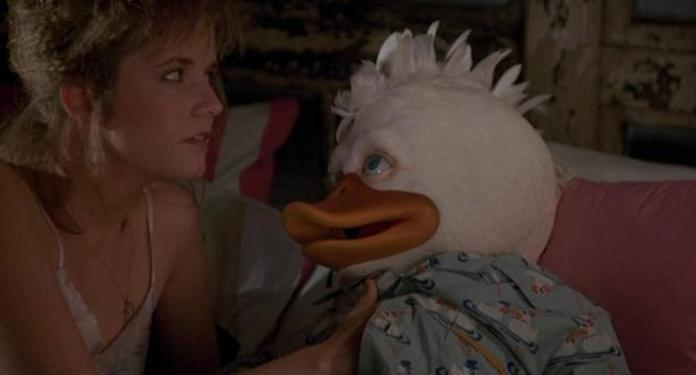 In the movie Howard the Duck, the heroine has sexual intercourse with a giant duck / Screenshot