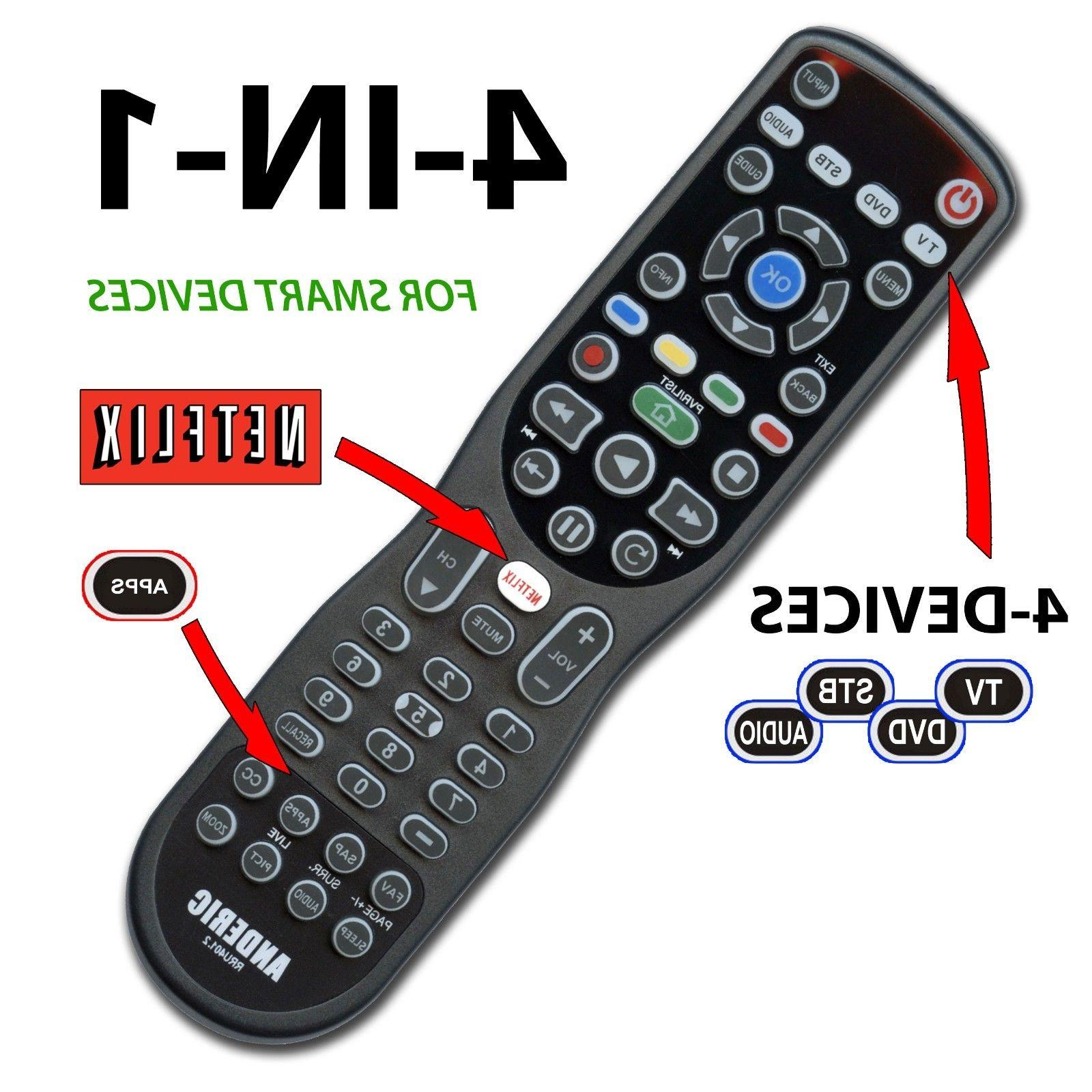 hight resolution of anderic 4 device universal remote control for smart tv roku