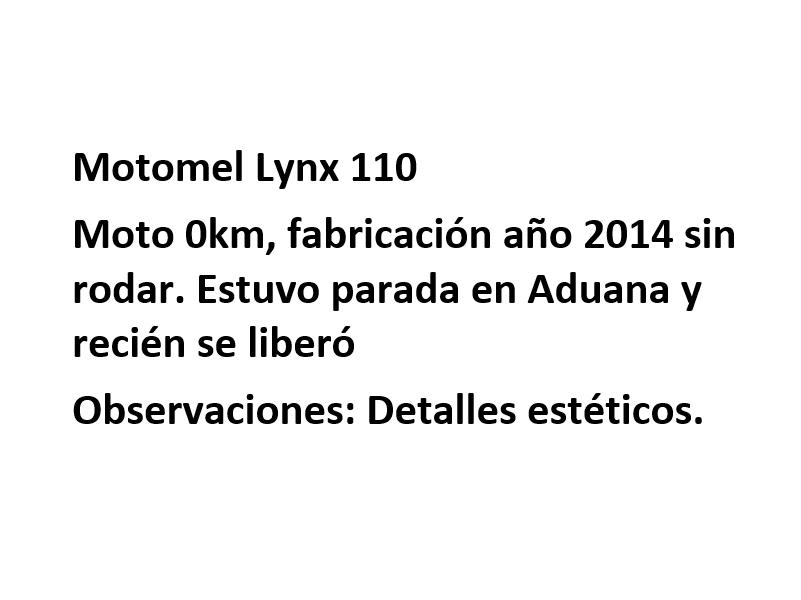 Moto Motomel Lynx 110 Promo 2014
